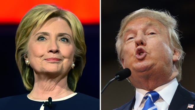 Democratic presidential candidate Hillary Clinton and GOP presidential candidate Donald Trump