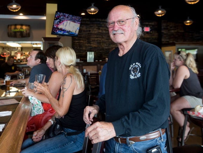 Jim England, longtime restaurateur, checks out his