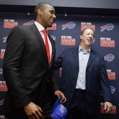 The Buffalo Bills No. 1 draft pick quarterback EJ Manuel,