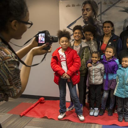 Kids take a group outing to 'Black Panther'