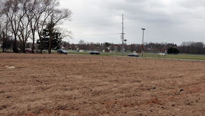 A view of the plowed land where part of the Field of Dreams would be located if the proposal is approved.