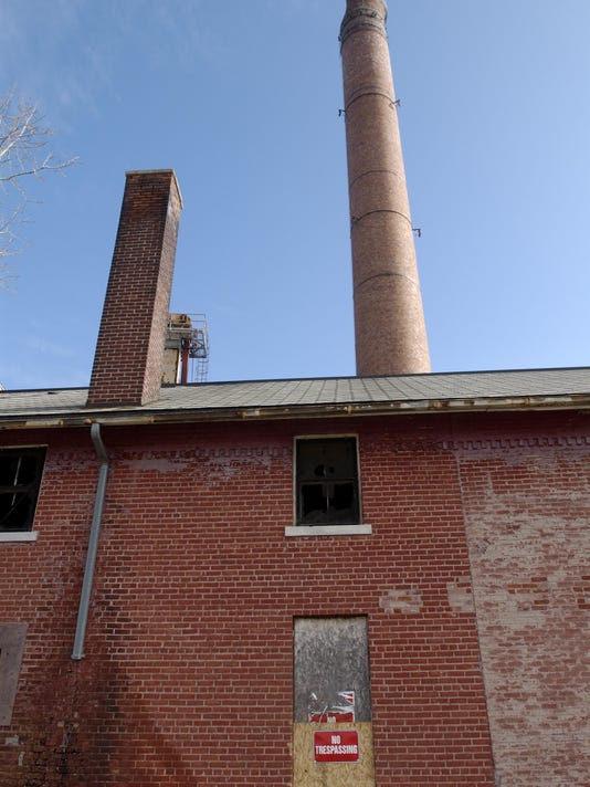 Old bakery and smokestack