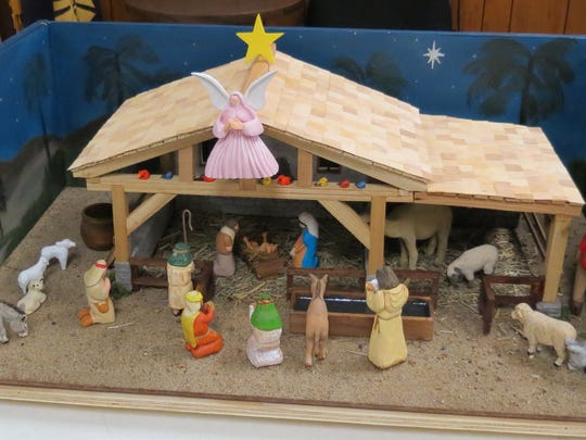 A hand-carved Nativity scene will be raffled by North Arkansas Woodcarvers Club.