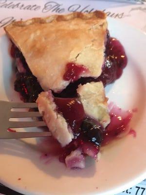 Dino's Family Restaurant's homemade blueberry pie.