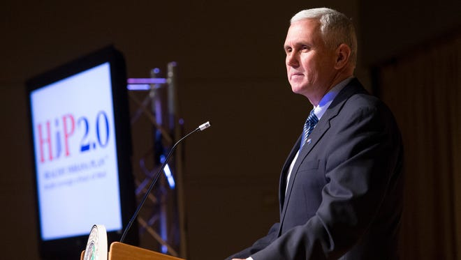 """Gov. Mike Pence says he is """"cautiously optimistic"""" that he has come up with a plan to expand health care coverage to uninsured low-income adults."""