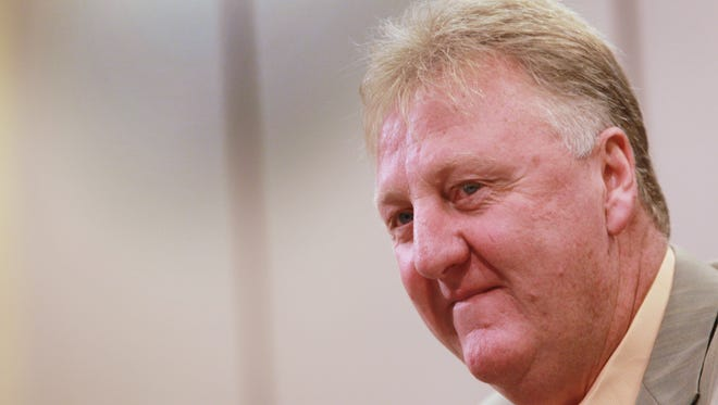 FILE - Indiana Pacers president of basketball operations Larry Bird.