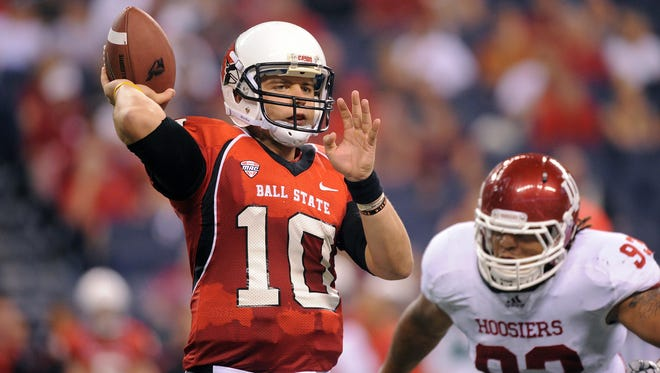 Ball State's QB Keith Wenning hopes an NFL team likes what he has to offer. (Matt Kryger/ The Star)