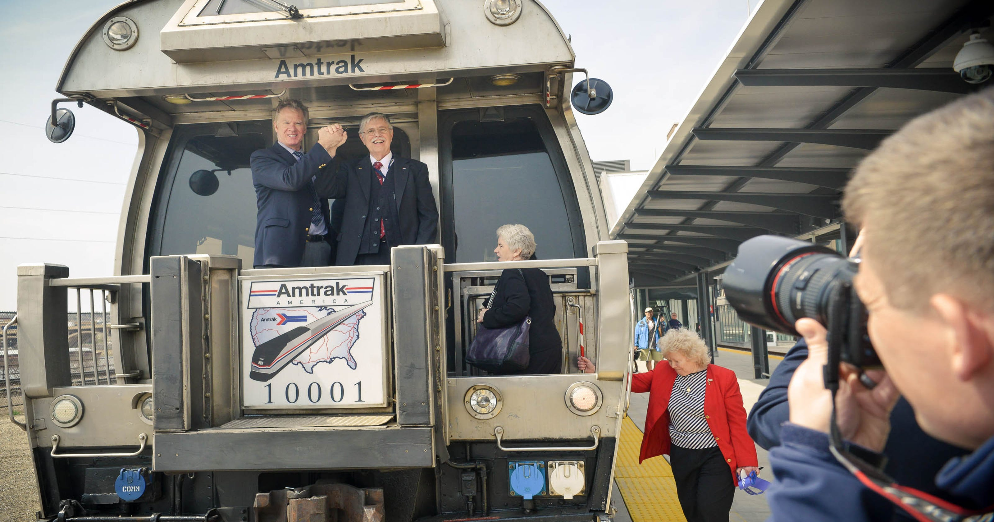 Amtrak's arrival at St  Paul Union Depot celebrated