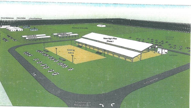 Rendering of what the Santa Rosa County Fairgrounds will potentially look like after phase two is completed.