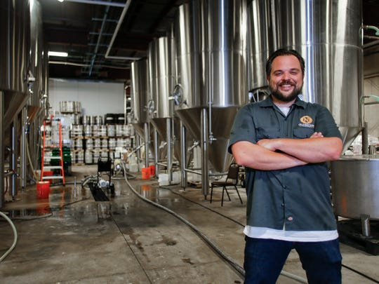 Travis Fritts, owner of Old Nation Brewing Co. in Williamston,