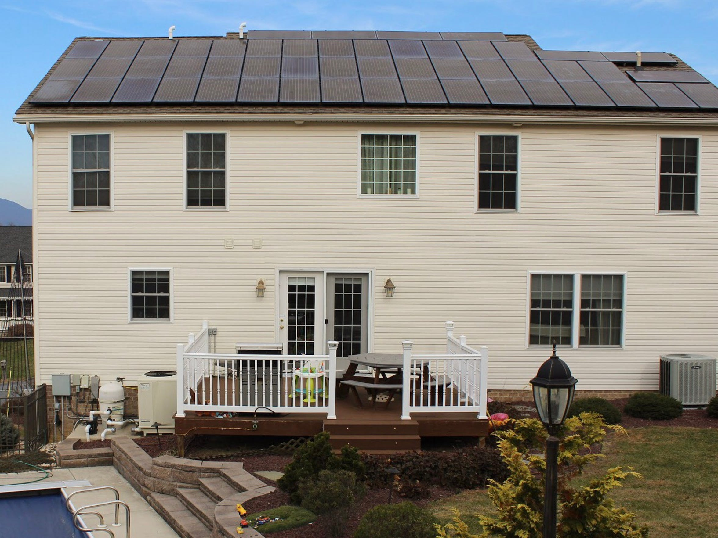 Homeowner Mike Cermak installed solar panels on the roof of his house on Bell Avenue in Chambersburg, which help produce clean, renewable energy. Cermak said the technology is also a way to reduce his and his family's carbon footprint.