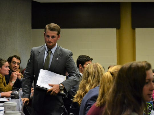 Miller Hoffman, a member of Clemson University's student senate, introduced the articles of impeachment on Monday, Oct. 23 in an effort to oust Jaren Stewart, the student government vice president.