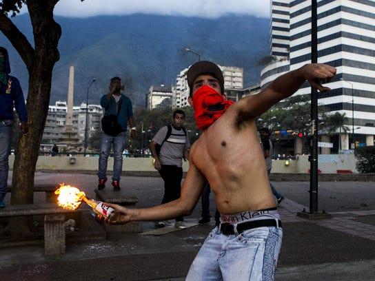 EPA VENEZUELA PROTESTS