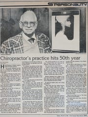 An 1986 News Journal article about Harold Rinehart.