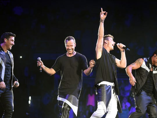 Singers Jonathan Knight, Donnie Wahlberg, Joey McIntyre and Danny Wood of New Kids on the Block. The group returns to the Delaware State Fair this summer.