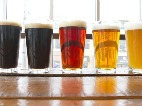 A flight of beers from Beach Haus Brewery in Belmar, which is one of many breweries participating in next week's Garden State BrewFest.