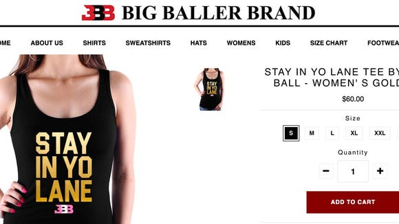 LaVar Ball is turning his disrespectful 'stay in your lane' remark into merchandise