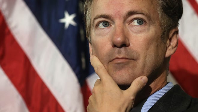 Sen. Rand Paul (R-Ky.) is shown during a news conference on Capitol Hill.