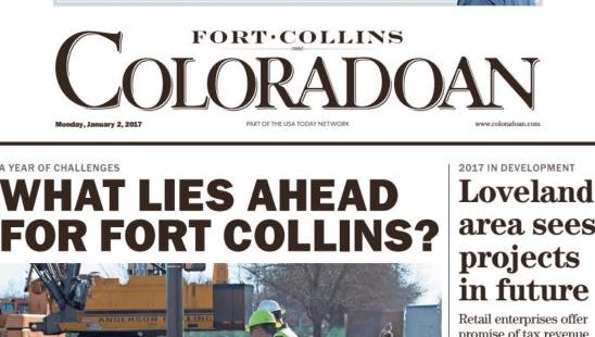 Jan. 2, 2017, issue of the Fort Collins Coloradoan