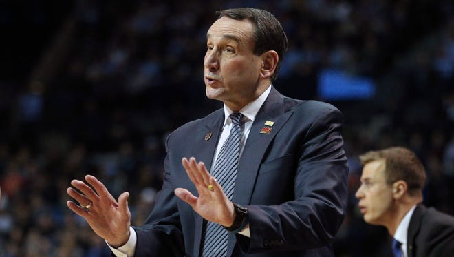 Duke Blue Devils head coach Mike Krzyzewski.