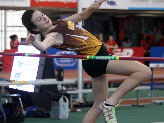 Diana Guarino of Clarkstown South competes in the high