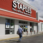A Staples office supply store in Miami.