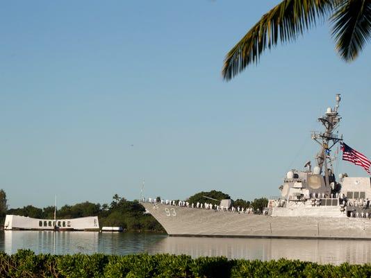 USS Arizona 73rd anniversary 12/7/14 Survivor Toast