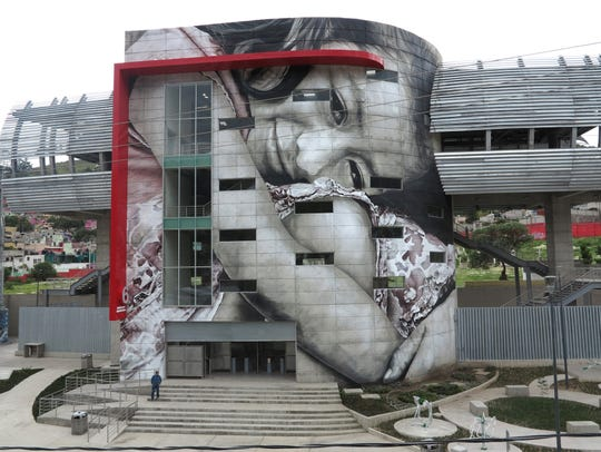 A mural painted by Guido van Helten in Mexico.