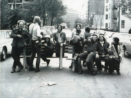 Members of the Mount Philo commune traveled to Washington to protest the Vietnam War in 1971