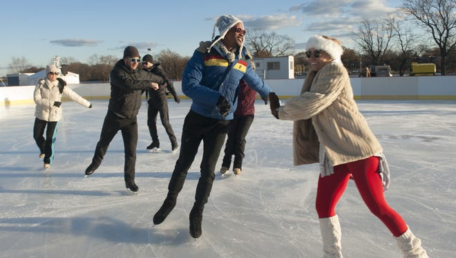 Ice dancers practice their moves at Cooper River Park in Pennsauken.
