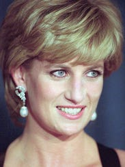 Princess Diana at a charity gala in New York in December