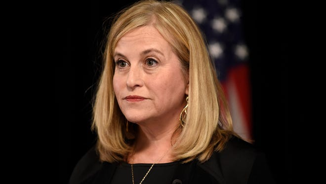 Nashville Mayor Megan Barry speaks to the media during a news conference Wednesday, Jan. 31, 2018, at the Metro Courthouse in Nashville. Barry admitting to having an extramarital relationship.