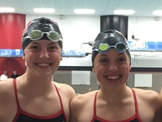 SPASH girls swimming Rosenthal, J. Stupar, K. Stupar and Ramczek