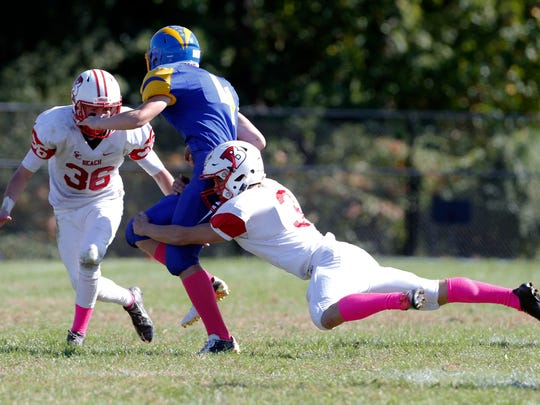 The Garnet Gulls of Point Pleasant Beach High School traveled into Middlesex County to take on the Chargers of Spotswood High School in a varsity football on Saturday October 15, 2016.