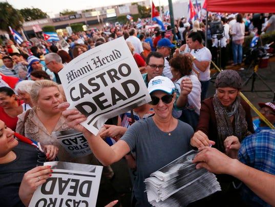 AP FIDEL CASTRO FLORIDA A ENT USA FL