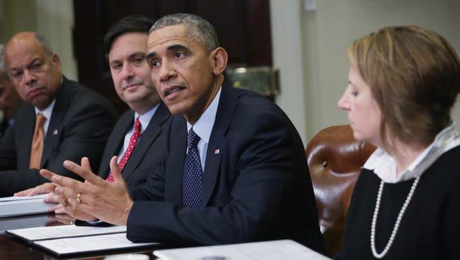 President Obama speaks at a White House meeting Nov. 18.