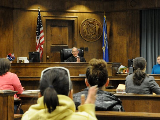 Brown County Circuit Court Judge Donald Zuidmulder presides over drug court in 2010.