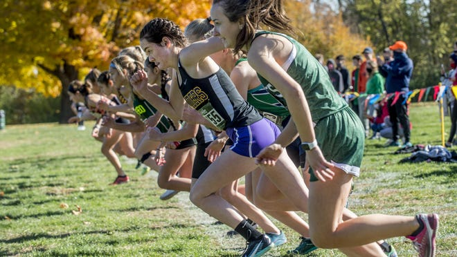 Runners take off at the starting line last week in the Class 2A girls cross country sectional at Detweiller Park in Peoria. ShaZam Racing's XC Championships are scheduled for this weekend in Chillicothe.