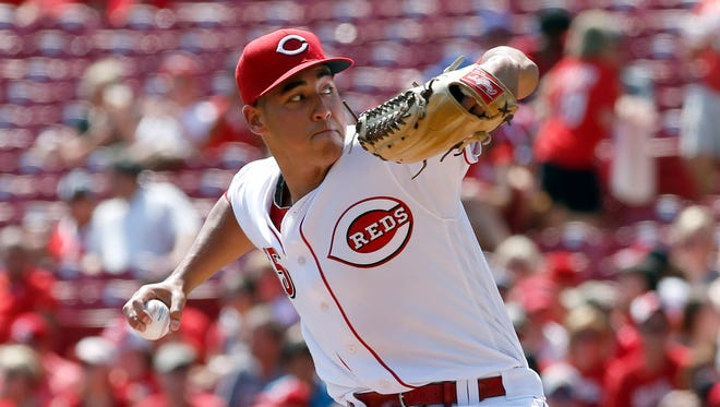 Cincinnati Reds starting pitcher Robert Stephenson throws against the New York Mets during the second inning at Great American Ball Park.