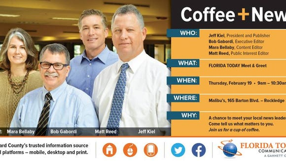 We hope you'll join us on Thursday for coffee and conversation.