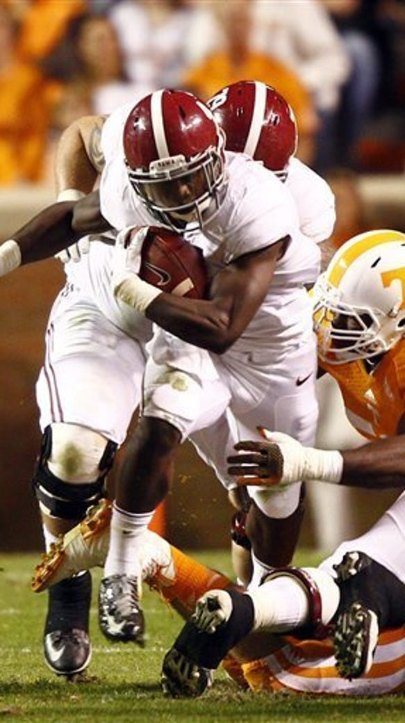 T.J. Yeldon and the Alabama Crimson Tide are ranked