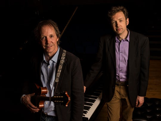 Mandolin player Jamie Masefield and pianist Tom Cleary