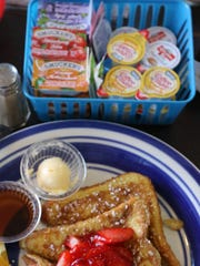 French toast with Strawberries at Mundo's Cafe in Monmouth.