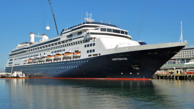 The 1,380-passenger Amsterdam, along with its near-twin the Rotterdam of 1997, shares co-flagship status in the14-vessel Holland America Line fleet.
