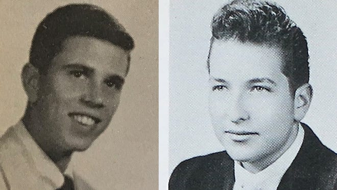 A Bob Zimmerman attended Sioux Falls Washington in 1954. At right, Robert Zimmerman (later named Bob Dylan) is shown in his Hibbing (Minn.) High School photo.