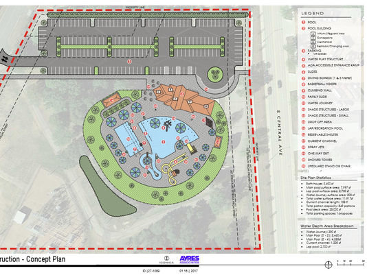 Concept plan for the new Hefko Pool