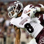 Mississippi State wide receiver Fred Ross has a good chance at breaking a school record for receptions in a season.
