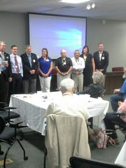 The new Rotary of Henderson board.