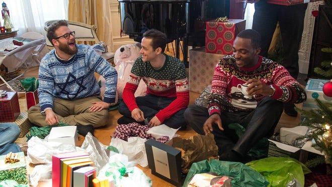 "Seth Rogen, Joseph Gordon-Levitt and Anthony Mackie get wild on Christmas Eve in ""The Night Before."""