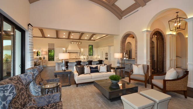 Sunwest Homes' Grand Santa Barbara estate in Talis Park is a two-story residence with9,200 total square feet and 5,951 square feet under air. The model is priced at $4.495 million.